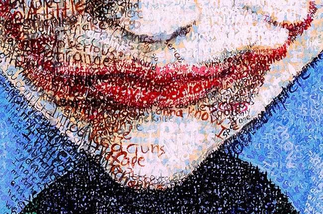 Phil Vance Portraits Typographie, Portraits Illustrés de Célébrités Faits de Textes Manuscrits