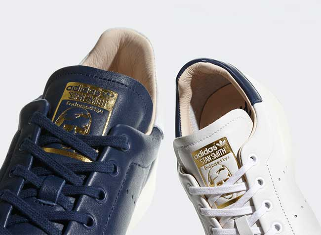 adidas stan smith recon baskets bleu blanc, Adidas Réinvente ses Baskets Stan Smith en Blanc, Bleu et Doré