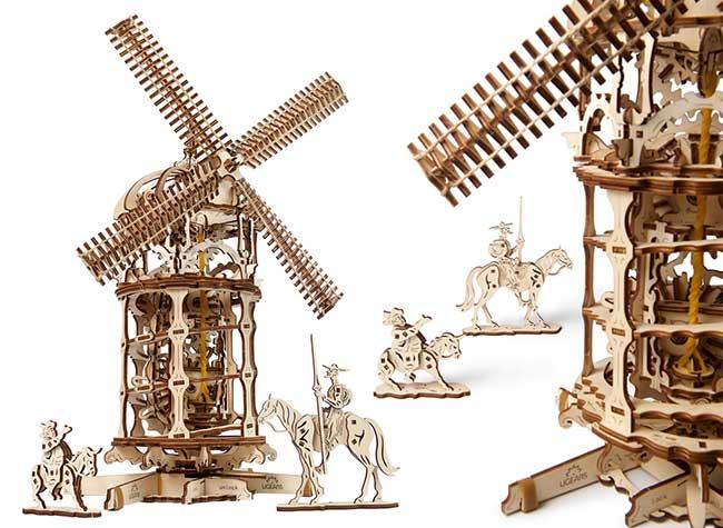 ugears jouets bois mecaniques kit, Inspirants Jouets Mécaniques en Bois à Monter Soi-Meme (video)