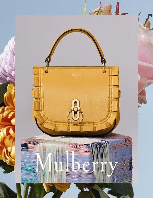 campagne-mulberry-printemps-ete-2018, Un Ete en Fleurs et en Rayures pour Mulberry