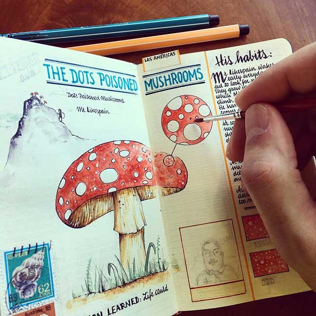 illustrations carnets croquis jose naranja 1 - Les Carnets de Croquis de cet Artiste sont des Oeuvres d'Art