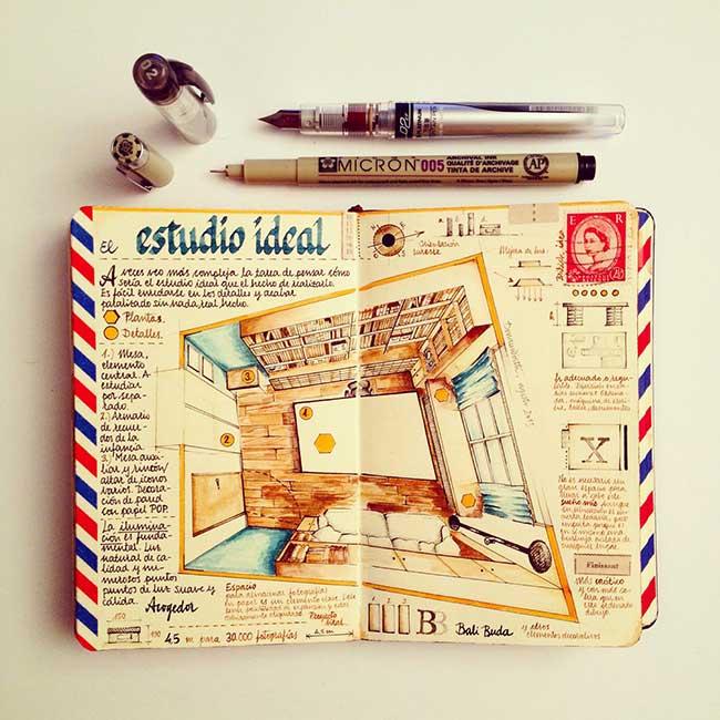 illustrations carnets croquis jose naranja 3 - Les Carnets de Croquis de cet Artiste sont des Oeuvres d'Art