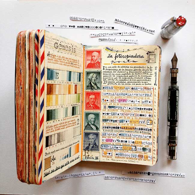 illustrations carnets croquis jose naranja 8 - Les Carnets de Croquis de cet Artiste sont des Oeuvres d'Art