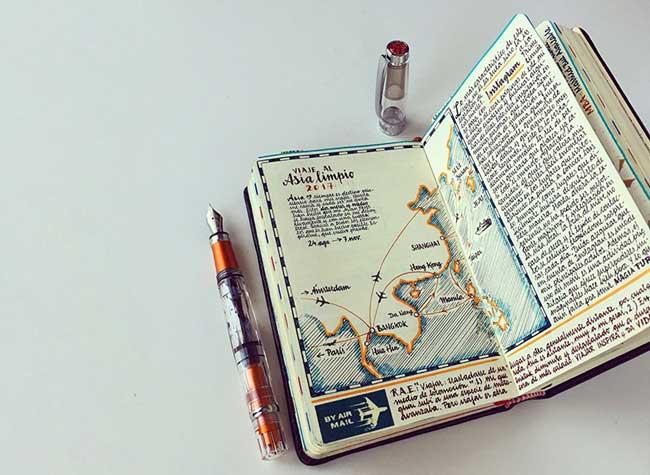 illustrations carnets croquis jose naranja 9 - Les Carnets de Croquis de cet Artiste sont des Oeuvres d'Art