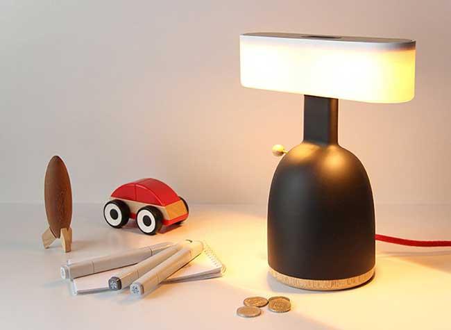 lampes dina vole moak studio, Pour Fonctionner ces Lampes ont Besoin de Pièces de Monnaie ou de Vent