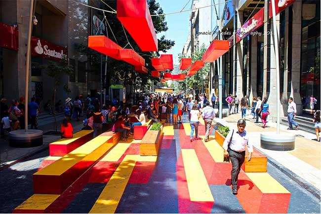 paseo bandera street art santiago, La Plus Artistique des Rues Piétonnières se Trouve à Santiago