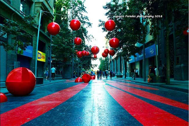 paseo bandera street art santiago