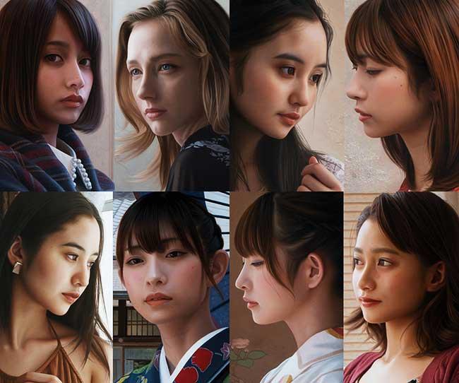 Yasutomo Oka Peintures Hyper Realistes, Ces Portraits de Japonaises sont des Peintures Hyper Réalistes