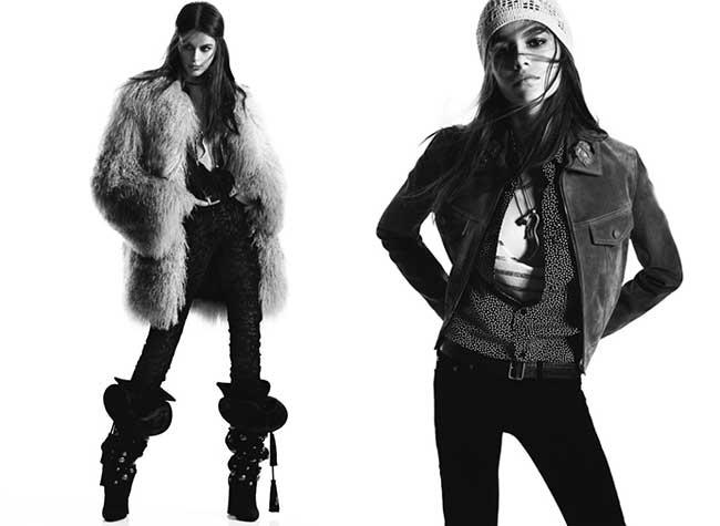femme saint laurent campagne hiver 2018 2019, La Femme Saint Laurent Rock et Rétro pour l'Hiver 2018
