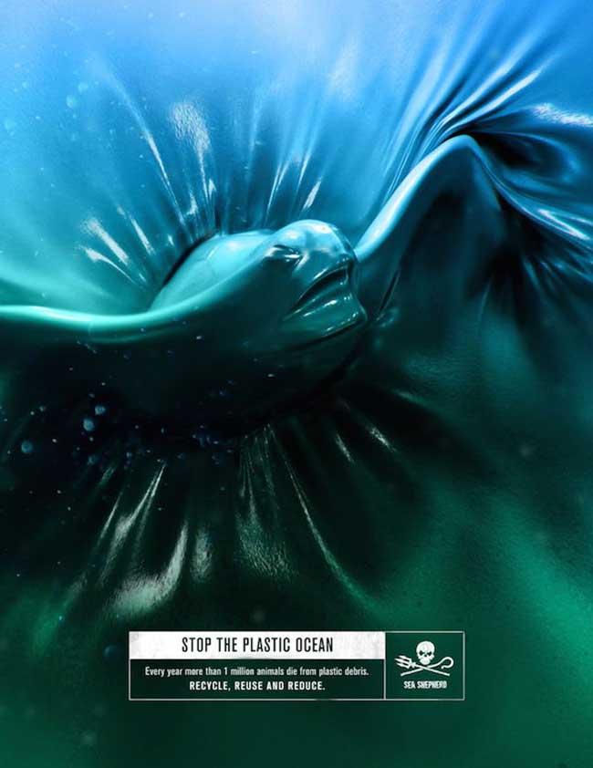 sea shepherd campagne publicitaire fred farid, Le Jour où l'Eau des Océans sera Transformée en Plastique (video)