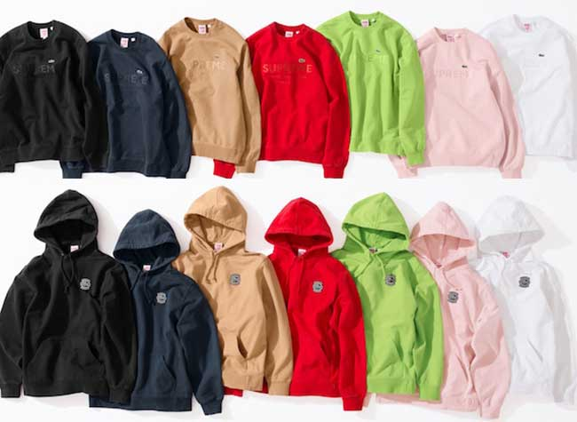 Supreme Lacoste Ete 2018, Supreme et Lacoste la 2e Collection Trendy et Urbaine