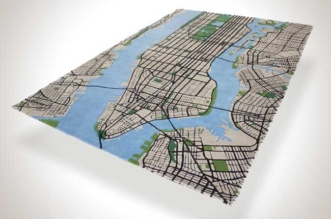 tapis new york city shift perspective manhattan 3d