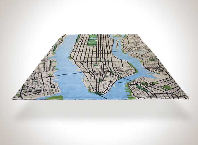 tapis new york city shift perspective manhattan 3d