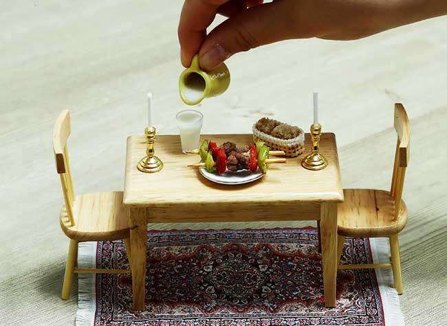 cuisine miniature mini turk mutfagi, Cette Turque Cuisine de Veritables Petits Plats Miniatures