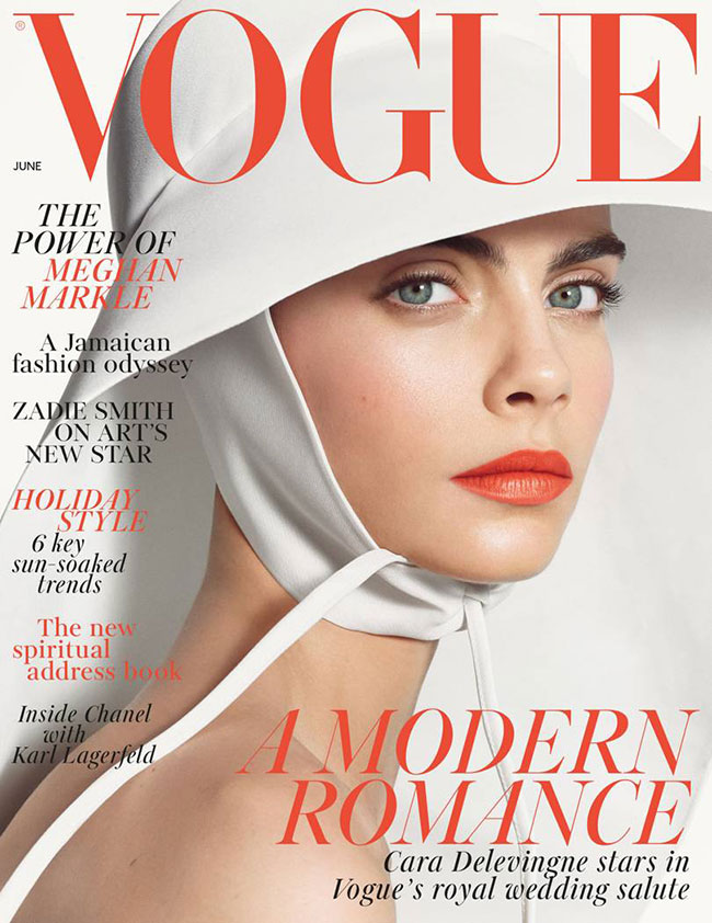 cara delevingne mariee blanc photo mode vogue