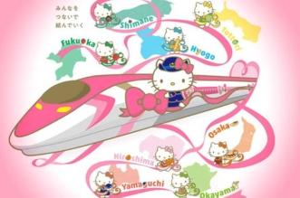 chat hello kitty train japon shinkansen