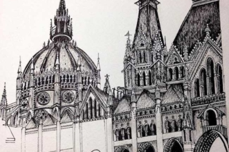 dessins encre architecture details emi nakajima