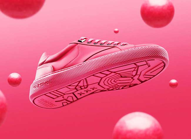 explicit wear chewing gum baskets sneakers rose