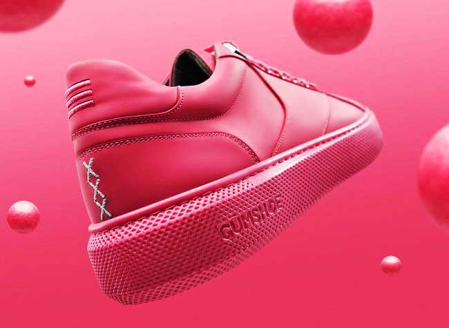 explicit wear chewing gum baskets sneakers rose, Des Baskets Roses en Chewing-Gums Recyclés pour l'Été (video)