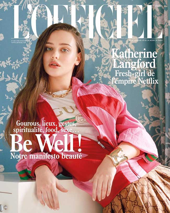 katherine-langford-lofficiel-paris-ete-2018, Katherine Langford Star de '13 Reasons Why' à la une de l'Officiel Paris