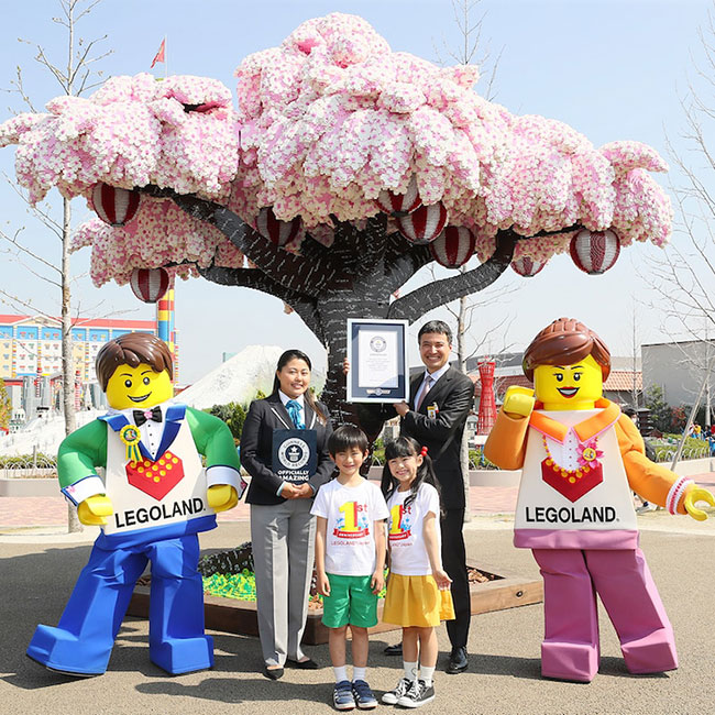lego arbre cerisier fleurs legoland japon 6 - 800000 Lego pour ce Cerisier en Fleurs Créé par Legoland Japan