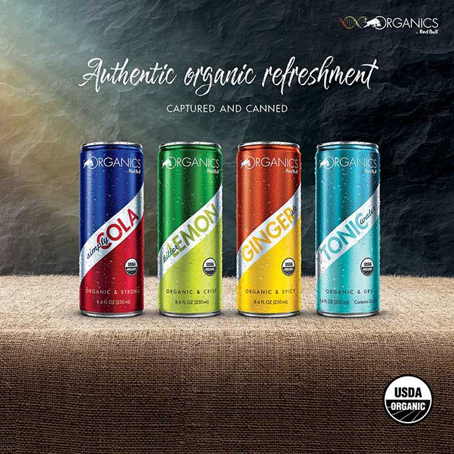 organic red bull soda cola bio naturel