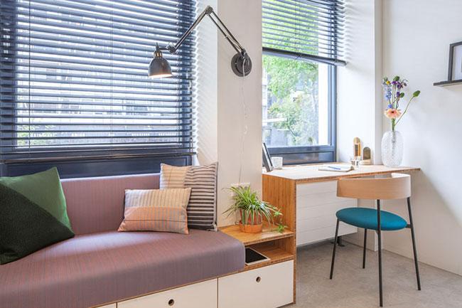 petit-appartement-loft-lit plafond standard studio, Astucieux Studio Loft de 18 m2 avec Chambre au Plafond