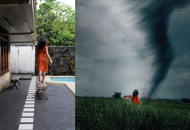 retouche photoshop avant apres katrina yu, Elle Révèle les Coulisses de ses Retouches Photo Oniriques