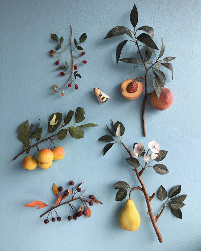 art-papier-fruits-legumes-ann-wood