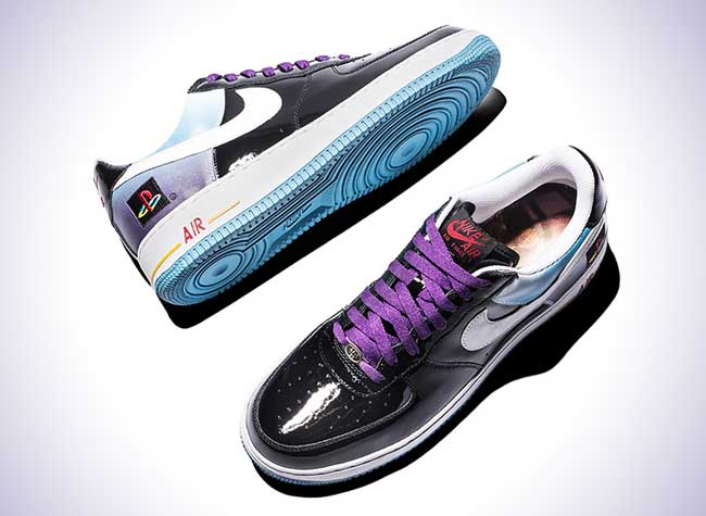 quality design e2971 bc748 nike air force 1 playstation baskets sneakers