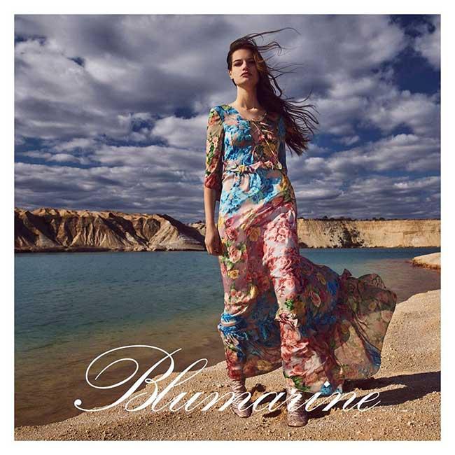 blumarine campagne automne hiver 2018 2019, Un Automne en Pleine Nature pour la Femme Blumarine