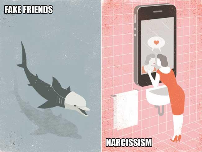 davide bonazzi illustration monde moderne, Illustrations Ironiques d'une Société Moderne Schizophrène