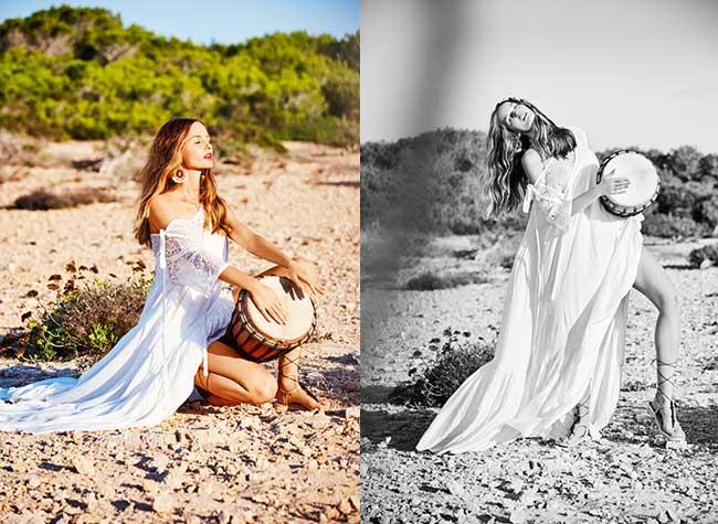 elle ellen von umwerth maxi robes ete, Un Eté en Maxi Robes pour Kristina Romanova