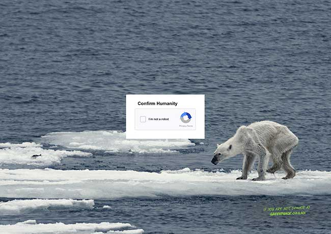greenpeace campagne captcha humanity