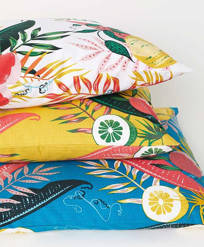 hm home maison couleurs tropicales, La Maison H&M Home se Couvre de Couleurs Tropicales