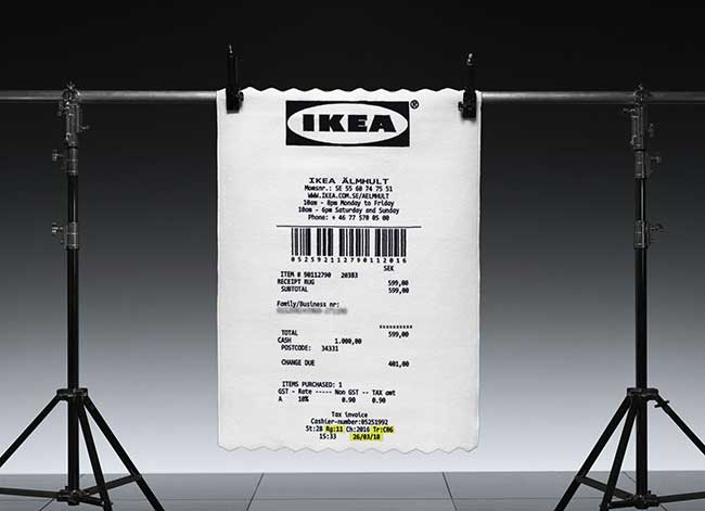 ikea virgil abloh markerad tapis ticket caisse