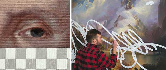 shawn huckins peinture acrylique photoshop, Ces Toiles de Maitres Effacées sur Photoshop sont des Peintures