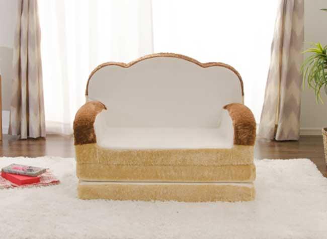 syoku pan lit fauteuil design pain mie tranche, Moelleux, le Mobilier au Design de Tranches de Pain de Mie