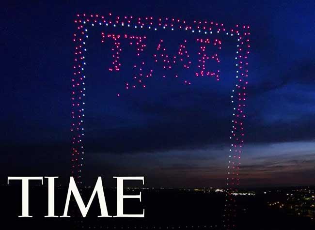 time magazine couverture intel drones 1 - 958 Drones pour une Couverture Aérienne du Time Magazine