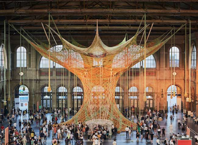 arbre crochet sculpture textile ernesto neto
