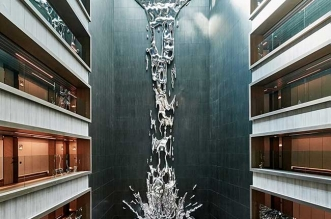art sculpture cascade pere gifre