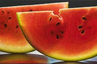dennis wojtkiewicz peintures photo realiste fruits
