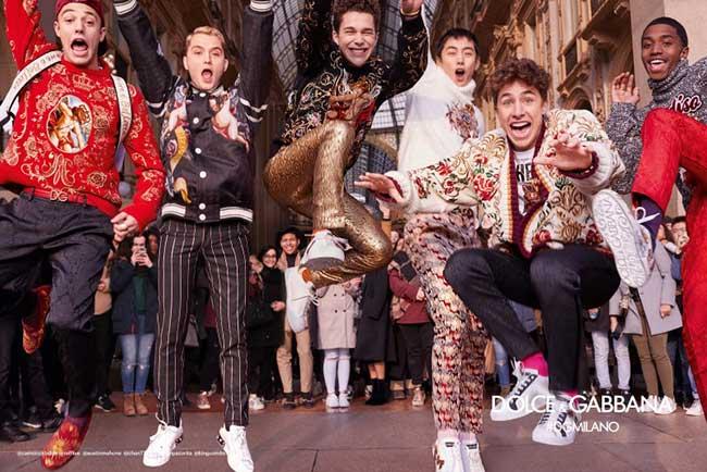 dolce gabbana homme hiver 2018 2019 campagne, Pour l'Homme Dolce Gabbana l'Hiver sera Milanais