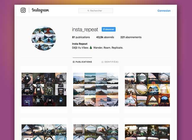 instarepeat deja vu photo instagram copie duplique 1 - Sur Instagram tout le Monde Fait les mêmes Photos de Voyage (images)