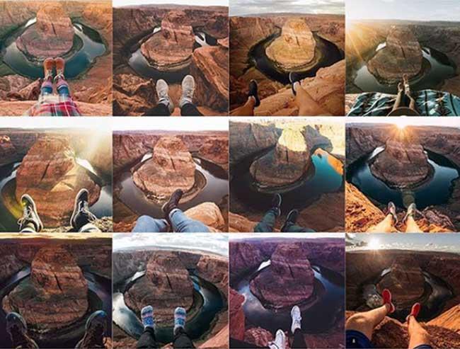 dejà vu photo instagram copie duplique instarepeat, Sur Instagram tout le Monde Fait les mêmes Photos de Voyage (images)