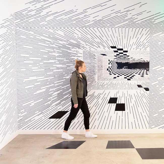 katy ann gilmores art mathematique illusion optique 4 - Mathématiques les Illusions d'Optiques de cette Artiste