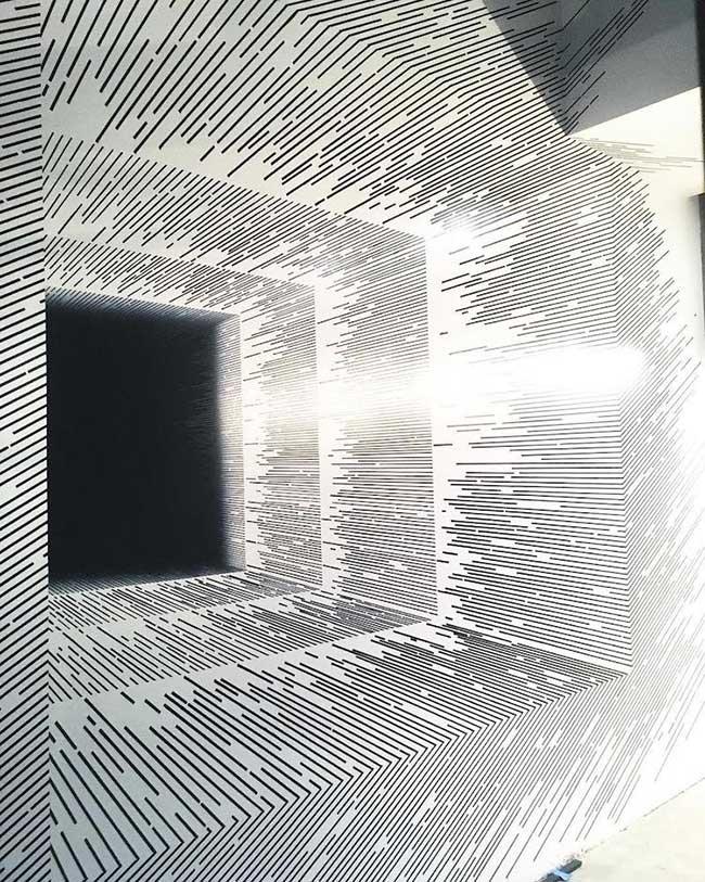 katy ann gilmores art mathematique illusion optique 6 - Mathématiques les Illusions d'Optiques de cette Artiste