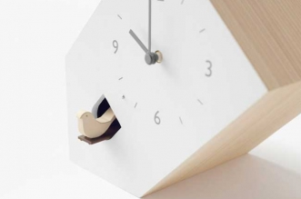 nendo pendule coucou horloge moderne design