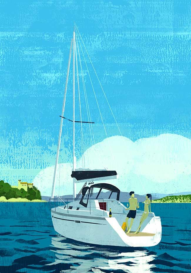 oriol vidal art illustrations retro 1 - Ses Illustrations Donnent Envie de Partir en Vacances