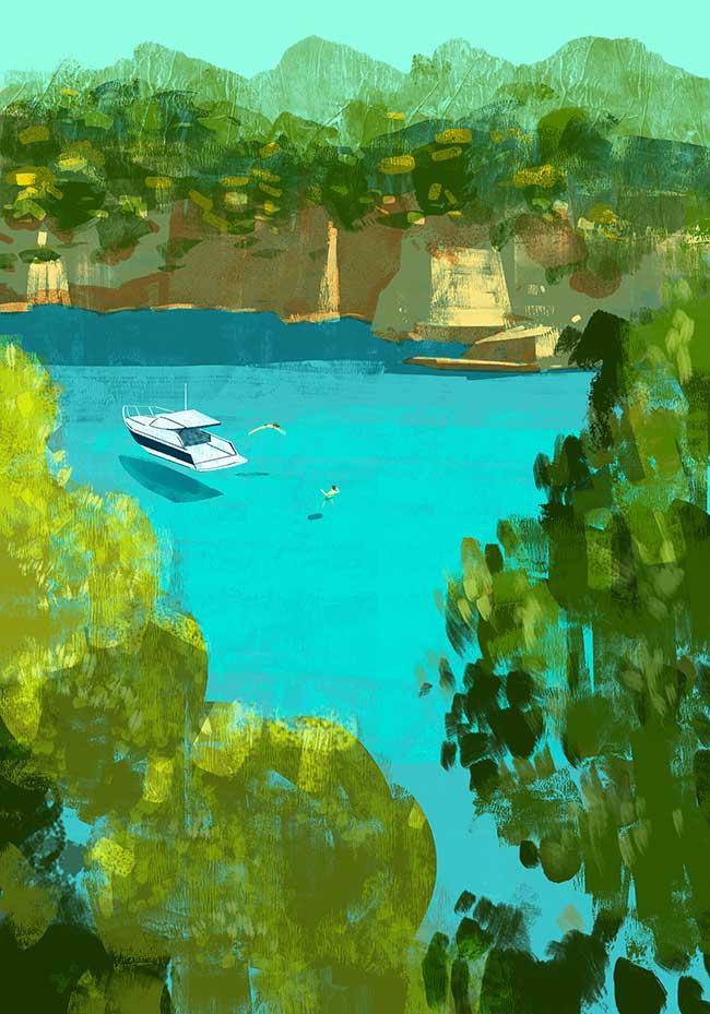 oriol vidal art illustrations retro 2 - Ses Illustrations Donnent Envie de Partir en Vacances